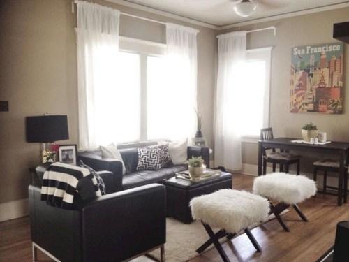 Wonderful Black White And Gold Living Room Design Ideas37