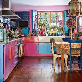 Awesome Bohemian Kitchen Design Ideas For Comfortable Cooking05