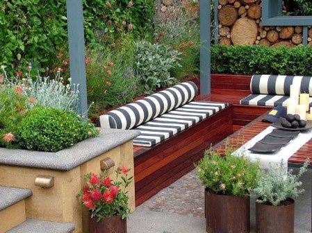 Comfortable Backyard Decoration Ideas For Your Summer34
