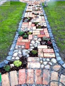 Creative Diy Garden Walkways Ideas For Stunning Home Yard14