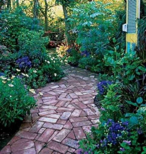 Creative Diy Garden Walkways Ideas For Stunning Home Yard25