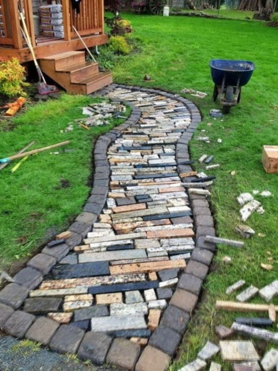 Creative Diy Garden Walkways Ideas For Stunning Home Yard46