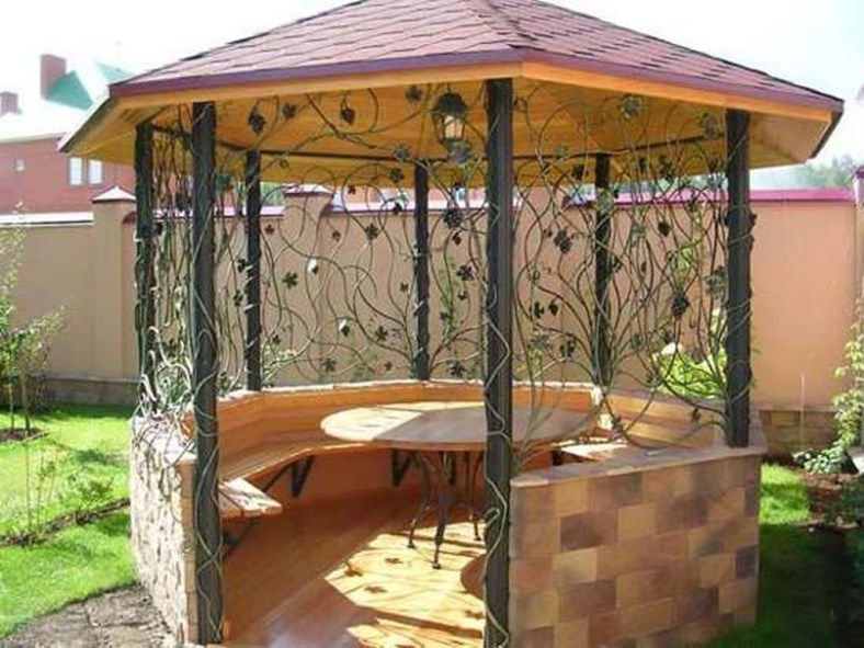 Impressive Gazebo Design Inspiration For Minimalist Garden32