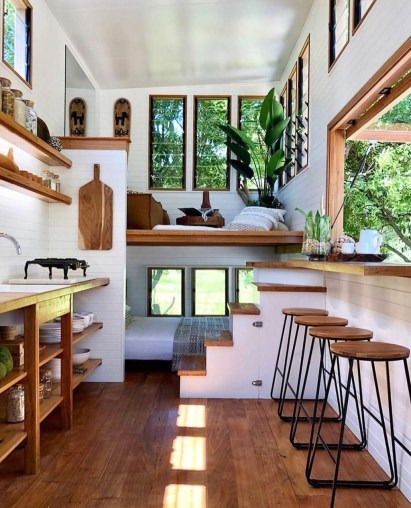 Smart Ideas For Decorating A Tiny House For Your Comfortable Family29