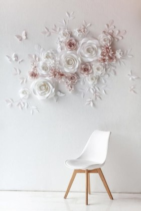 Amazing Diy Flower Wall Decoration For You Try16