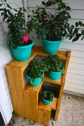 Awesome Diy Plant Shelf Design Ideas To Organize Your Garden34