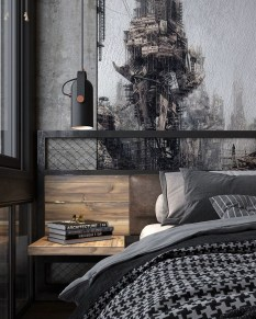 Awesome Industrial Style Bedroom Design Ideas13