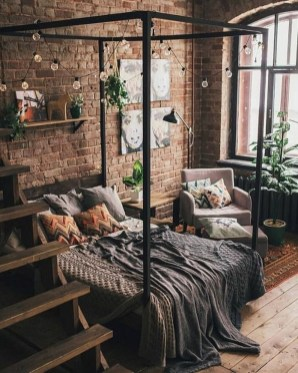 Awesome Industrial Style Bedroom Design Ideas18