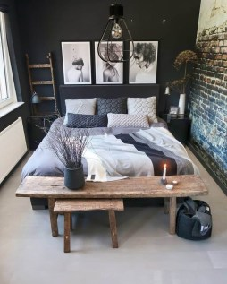 Awesome Industrial Style Bedroom Design Ideas19