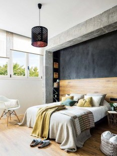 Awesome Industrial Style Bedroom Design Ideas41