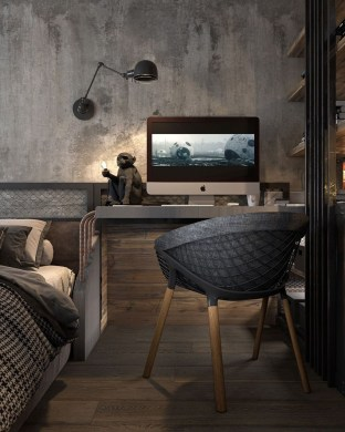 Awesome Industrial Style Bedroom Design Ideas45