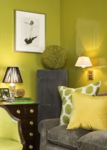 Awesome Living Room Green And Purple Interior Color Ideas02