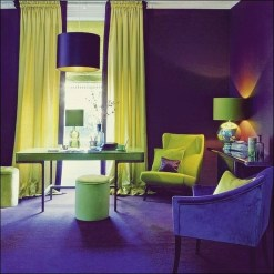 Awesome Living Room Green And Purple Interior Color Ideas09