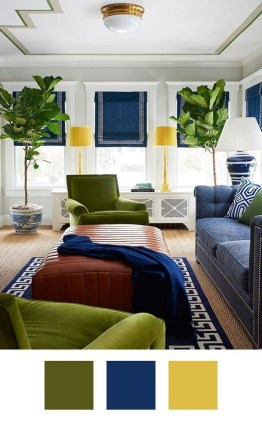 Awesome Living Room Green And Purple Interior Color Ideas24