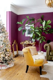 Awesome Living Room Green And Purple Interior Color Ideas31