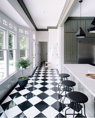 Best Monochrome Kitchen Theme Ideas For Decoration34