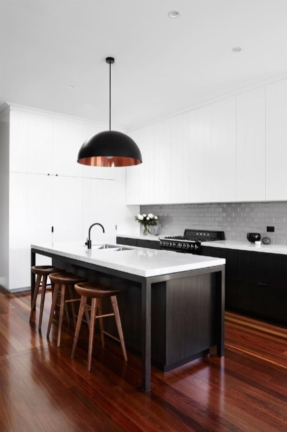 Best Monochrome Kitchen Theme Ideas For Decoration50