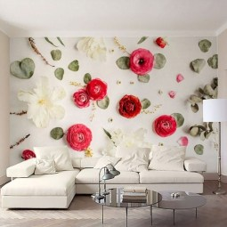 Fabulous Rose Wall Painting Design Ideas For You To Try In Home04