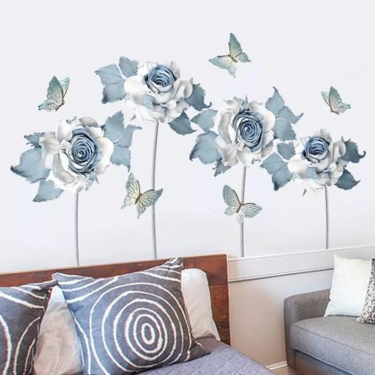 Fabulous Rose Wall Painting Design Ideas For You To Try In Home07