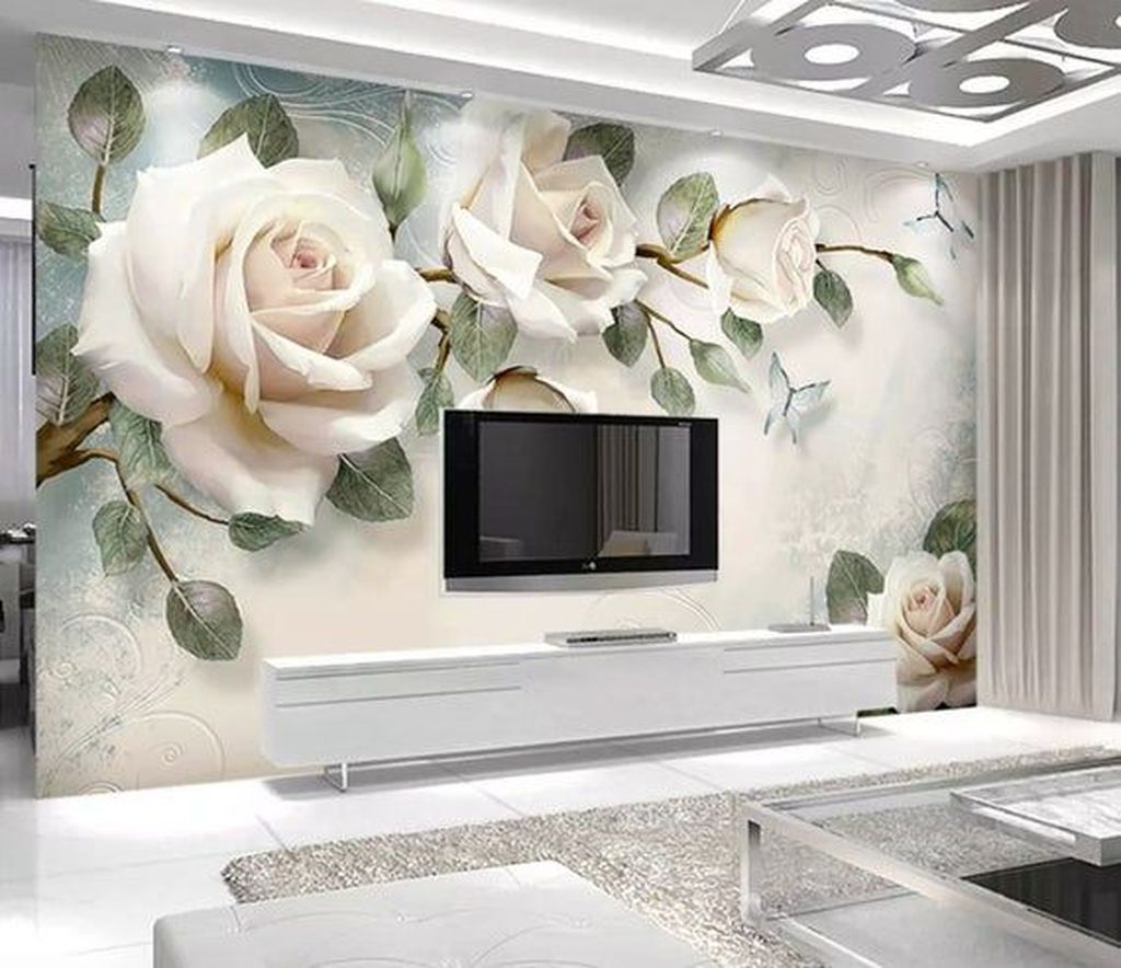 Fabulous Rose Wall Painting Design Ideas For You To Try In Home10