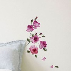 Fabulous Rose Wall Painting Design Ideas For You To Try In Home13