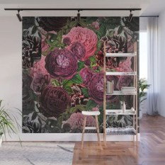 Fabulous Rose Wall Painting Design Ideas For You To Try In Home16