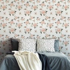 Fabulous Rose Wall Painting Design Ideas For You To Try In Home17