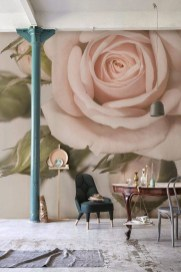 Fabulous Rose Wall Painting Design Ideas For You To Try In Home23