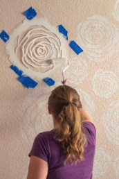 Fabulous Rose Wall Painting Design Ideas For You To Try In Home32