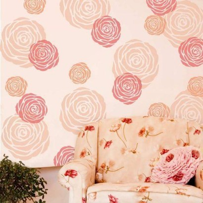 Fabulous Rose Wall Painting Design Ideas For You To Try In Home39