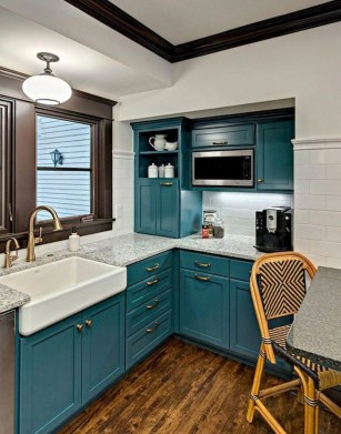 Impressive Gray And Turquoise Color Scheme Ideas For Your Kitchen07