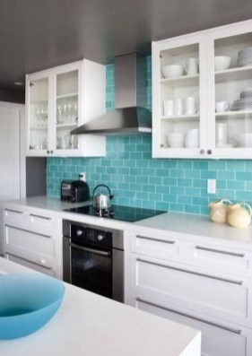 Impressive Gray And Turquoise Color Scheme Ideas For Your Kitchen15
