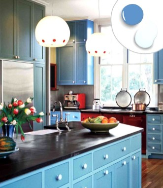 Impressive Gray And Turquoise Color Scheme Ideas For Your Kitchen26