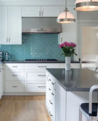 Impressive Gray And Turquoise Color Scheme Ideas For Your Kitchen33