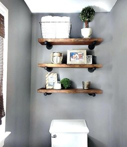 Interesting Floating Wall Shelves For Your Bathroom Style Ideas04