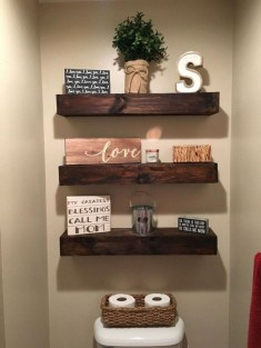 Interesting Floating Wall Shelves For Your Bathroom Style Ideas20