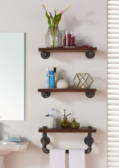 Interesting Floating Wall Shelves For Your Bathroom Style Ideas31