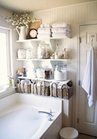 Interesting Floating Wall Shelves For Your Bathroom Style Ideas33