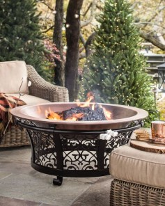 Perfect Fire Pit Design Ideas For Winter Season Decoration37