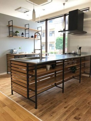 Wonderful Industrial Kitchen Shelf Design Ideas To Organize Your Kitchen07