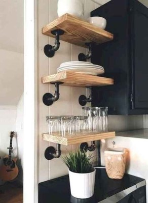 Wonderful Industrial Kitchen Shelf Design Ideas To Organize Your Kitchen09