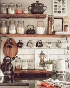 Wonderful Industrial Kitchen Shelf Design Ideas To Organize Your Kitchen13