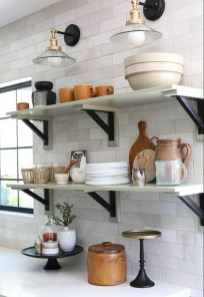 Wonderful Industrial Kitchen Shelf Design Ideas To Organize Your Kitchen14
