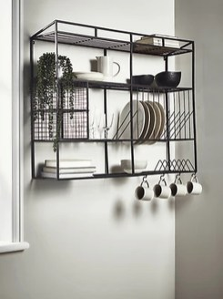Wonderful Industrial Kitchen Shelf Design Ideas To Organize Your Kitchen21