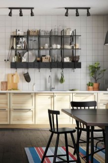 Wonderful Industrial Kitchen Shelf Design Ideas To Organize Your Kitchen23