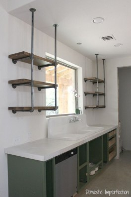 Wonderful Industrial Kitchen Shelf Design Ideas To Organize Your Kitchen24