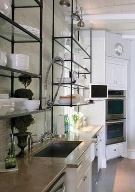Wonderful Industrial Kitchen Shelf Design Ideas To Organize Your Kitchen26