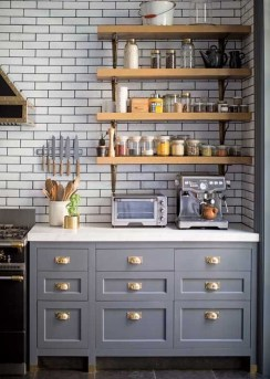 Wonderful Industrial Kitchen Shelf Design Ideas To Organize Your Kitchen31