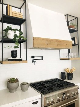 Wonderful Industrial Kitchen Shelf Design Ideas To Organize Your Kitchen36