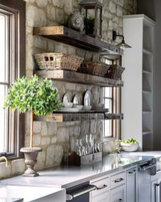 Wonderful Industrial Kitchen Shelf Design Ideas To Organize Your Kitchen37